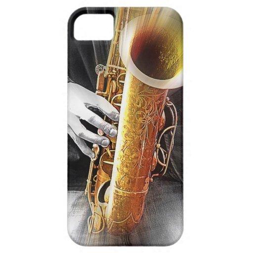 Blues in Sax iPhone 5 Case