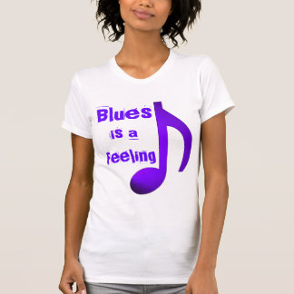 Blues is a Feeling Purple Blue Music Eighth Note T-Shirt