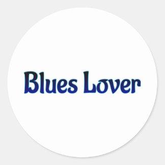 Blues Lover Classic Round Sticker