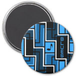 Blues magnet, large