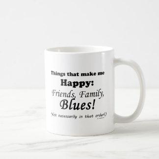 Blues Makes Me Happy Coffee Mug