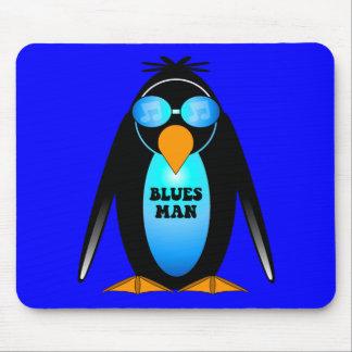 Blues man mouse pads