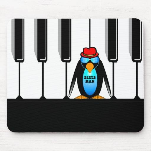 blues man piano mouse pad