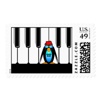 blues man piano postage