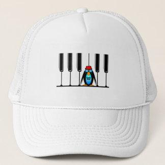 blues man piano trucker hat