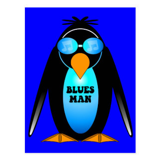Blues man postcard