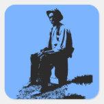 Blues Man Stickers