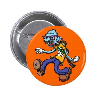 Blues Man Walking Button