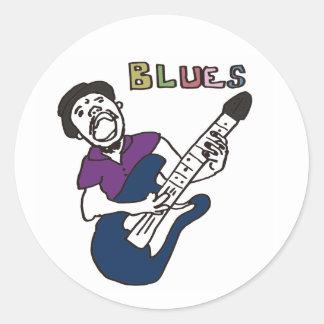 Blues men classic round sticker