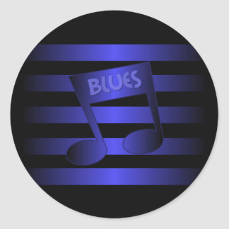 blues music classic round sticker