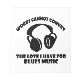 Blues Music designs Notepad