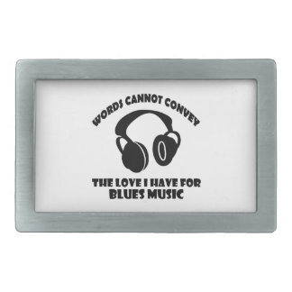 Blues Music designs Rectangular Belt Buckle