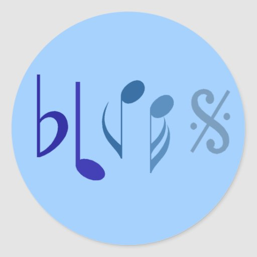 Blues Music Notes Sticker