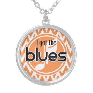 Blues Music; Orange and White Chevron Custom Jewelry