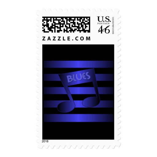 blues music postage stamp