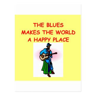 blues music postcard