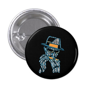 blues musician 1 inch round button