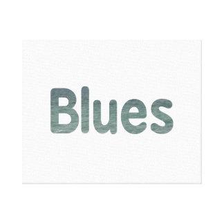 Blues ocean waves music design.png canvas print