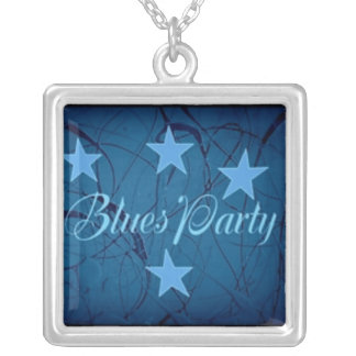 Blues Party Silver Plated Necklace