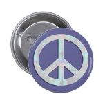 Blues Peace Sign Button