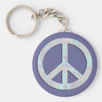 Blues Peace Sign Keychain