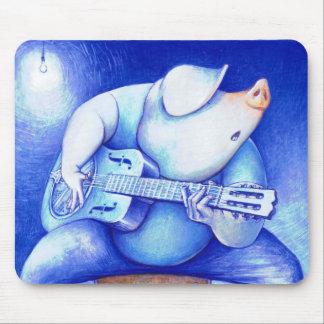 Blues Pig Mousepad