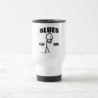 Blues Play Girl Travel Mug