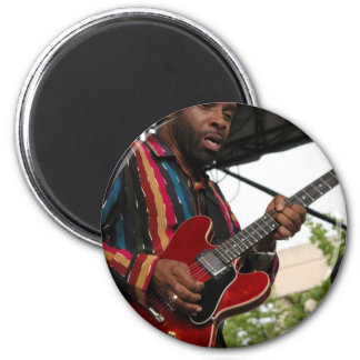 Blues Player 2 Inch Round Magnet