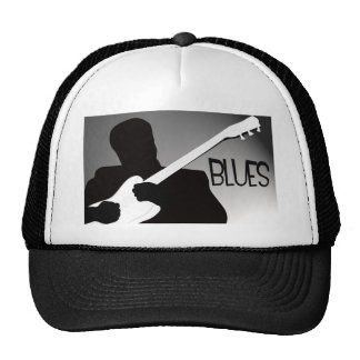 Blues player s silhouette with a spotlight hats