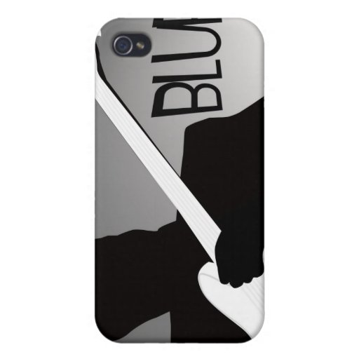 Blues player's silhouette with a spotlight case for iPhone 4