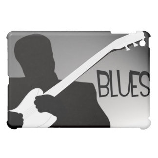 Blues player's silhouette with a spotlight iPad mini case