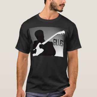 Blues player's silhouette with a spotlight T-Shirt
