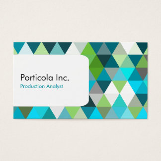 Blues Polygon Triangle Geometric Business Cards