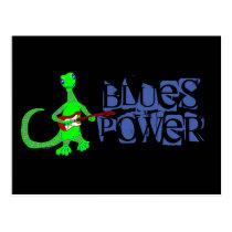 Blues Power Lizard Guitar Player Postcard