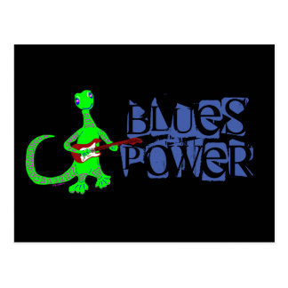 Blues Power Lizard Guitar Player Postcard
