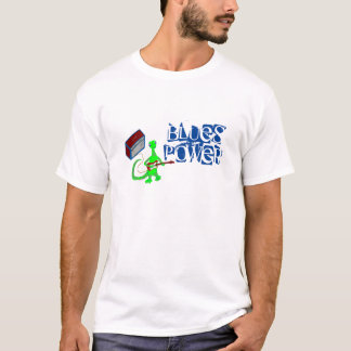 Blues Power Lizard Guitar Player with Amp Tshirt