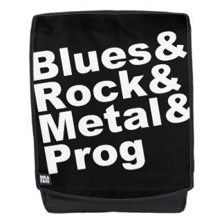 Blues&Rock&Metal&Prog (wht) Backpack