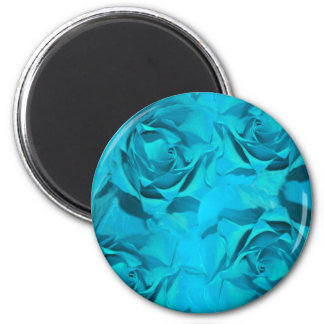 Blues roses 2 inch round magnet
