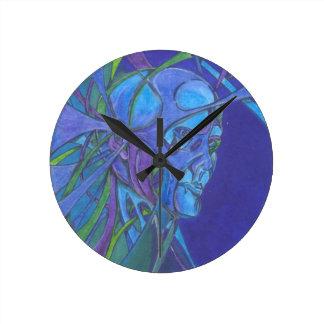 blues round clock