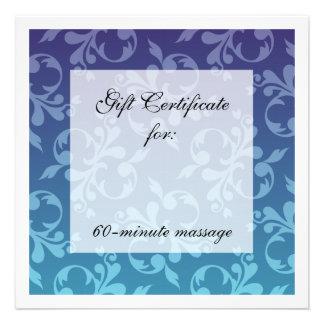 Blues Scrolls Gift Certificate Invites