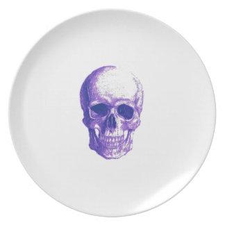 Blues skull melamine plate