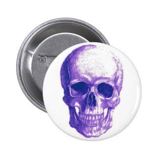 Blues skull pinback button