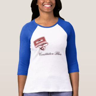 Blues Taper Classic Baseball Raglan (Women's) T-Shirt