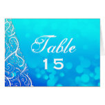 Blues Winter Flourishes Table Number Card