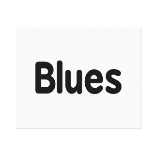 Blues word black text musical.png canvas print