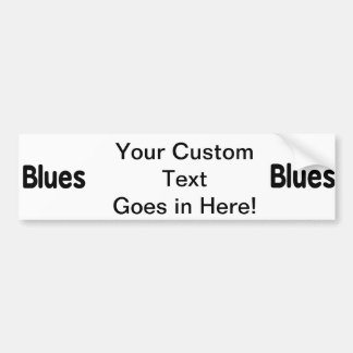 Blues word black text musical.png car bumper sticker