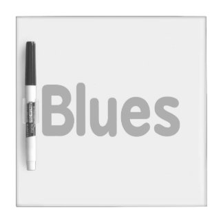 Blues word black text musical.png dry erase board