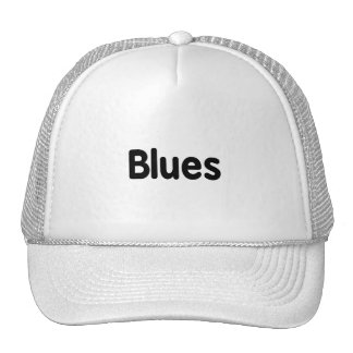 Blues word black text musical png hat