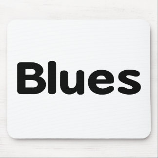 Blues word black text musical.png mouse pads