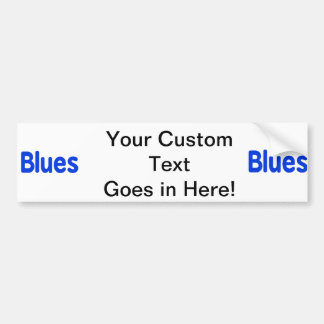 Blues word blue music design.png car bumper sticker